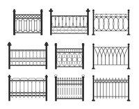 Set of metal fences