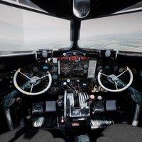 DC3 C-47 World War 2 Airplane Cockpit
