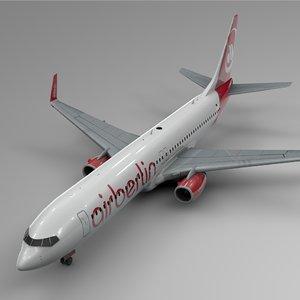 air berlin boeing 737-800 3D model