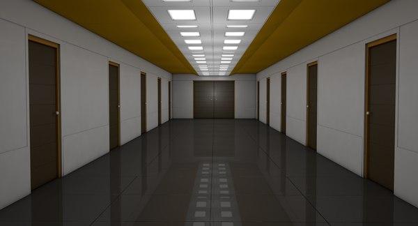 3D apartment corridor