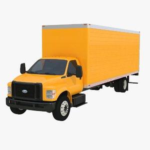 f-650 box truck 3D model