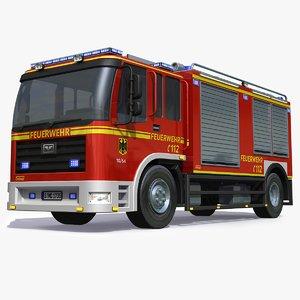 german firetruck 3D model