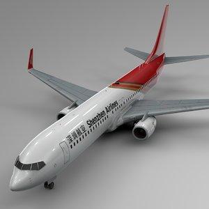 shenzen airlines boeing 737-800 3D model