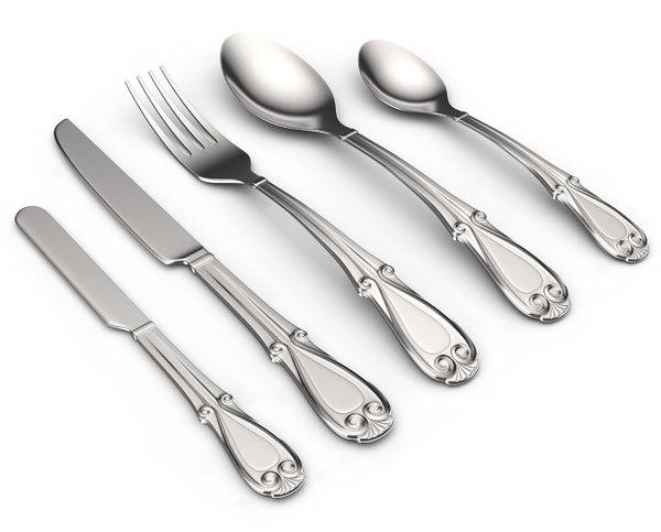 3D model cutlery flatware