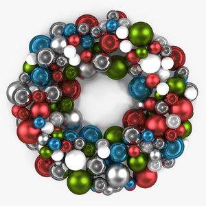 christmas balls wreath 3D model