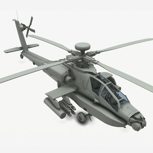 ah-64d apache helicopter 3D model