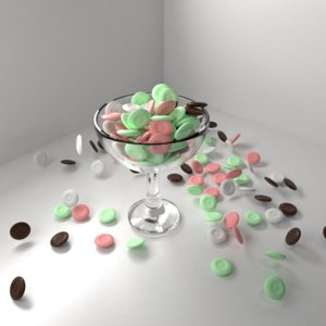 3D chocolate coin drops bowl