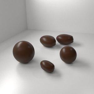 milk chocolate drop 3D model