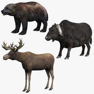 wolverine yak moose 3D model