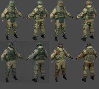fsb officer 3D model
