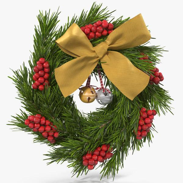 3D christmas wreath bells 2