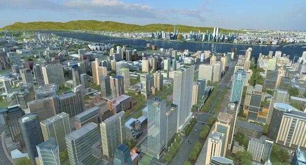 3D skyscrapercityscape streetskylinelandscapetopographysuburbhangzhou