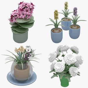 flower set 3D model