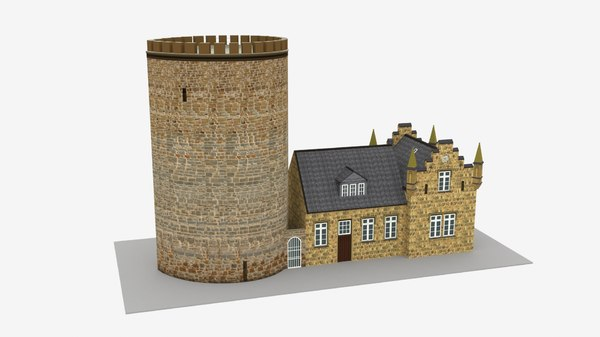burg ravensberg germany building model