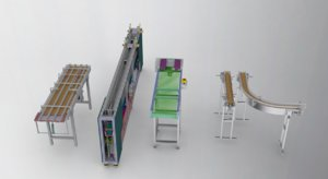 3D conveyor assembly chain model