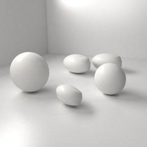 white chocolate drop model