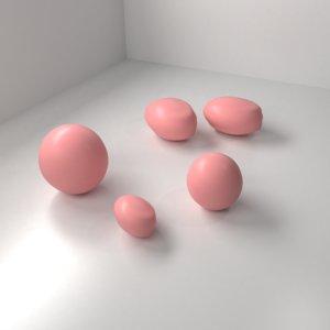strawberry chocolate drop 3D model
