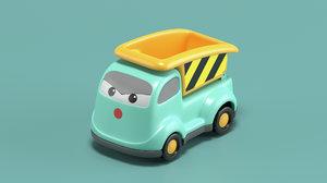 3D toy dump truck
