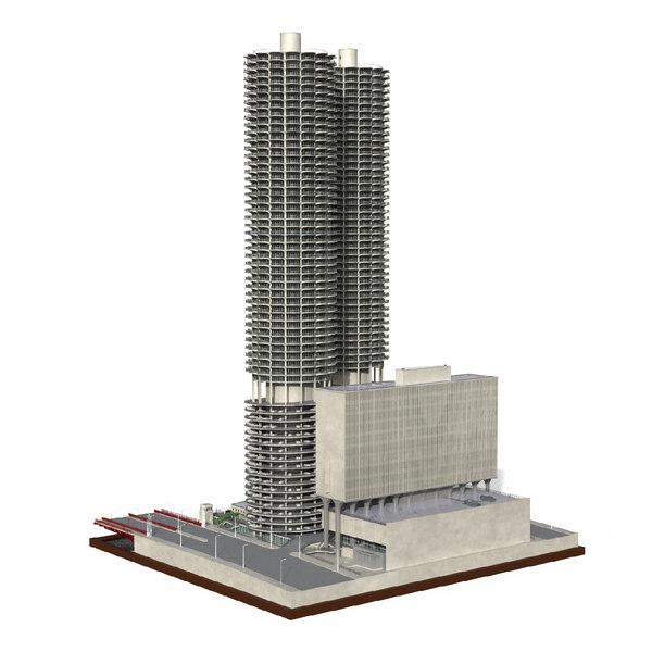 3D marina city chicago