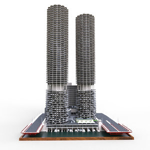 3D marina city chicago