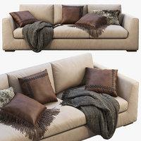 3D modena taper arm sofa model