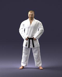 karate man 3D model