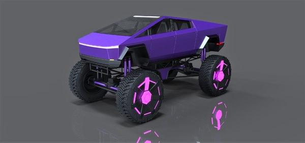 monster truck concept 3D model