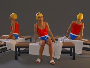 female swwimmingpool bcc 2130 3D model