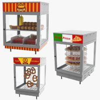 Food Display Collection 3D Model