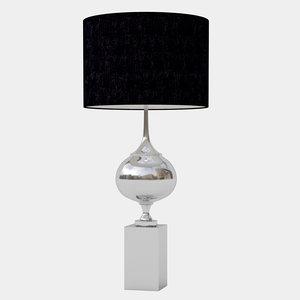 cyan epic table lamp 3D