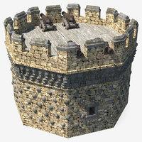 3D model tower turret