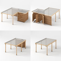 carports - paneled wood 3D