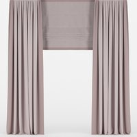 curtains roman 3D model