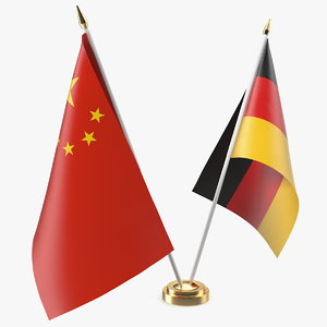 table flags germany china 3D model
