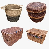3D model wicker storage