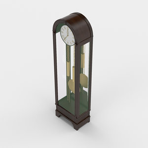 3D architectural visualization grandfather clock