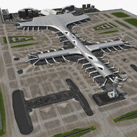 international airport model