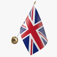 wall flag united kingdom 3D model