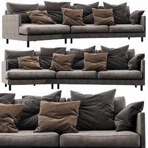 3D fabrili angle sofa