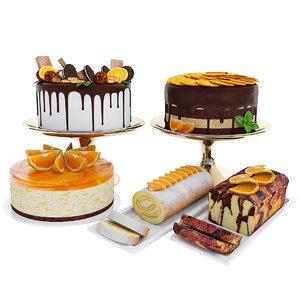 3D cake orange model