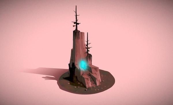 hi cave 3D model