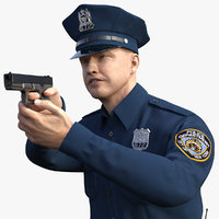 nypd police officer aiming model