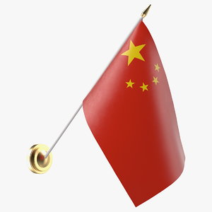 wall flag china 3D model