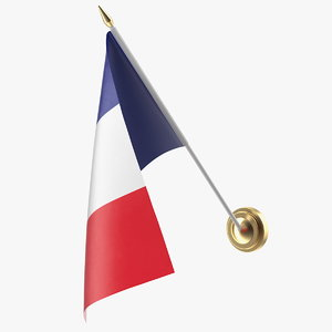 3D wall flag france model