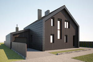 3D modern house 2 model