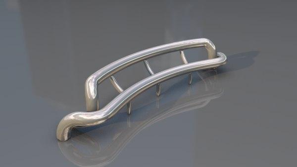 modern design sculpture bench 3D model