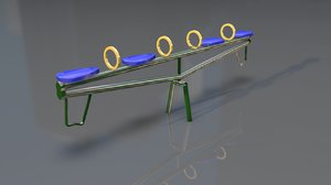 seesaw toy 3D