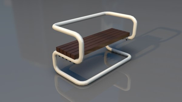 3D outdoor design bench