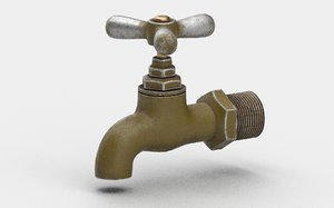 old water tap 3D model