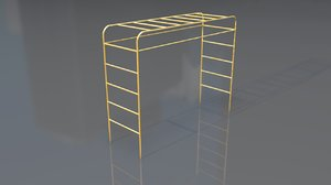 3D model stair toy monkey bars